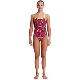 Funkita Strapped In One Piece Swimsuit Girls code breaker